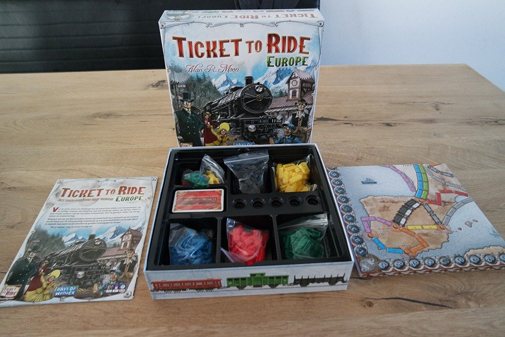 Ticket to Ride Europe - inhoud