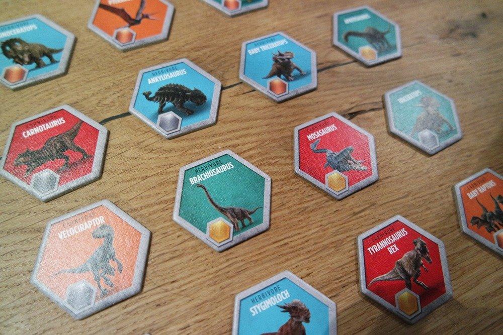 Het Jurassic World bordspel - dinosaurussen