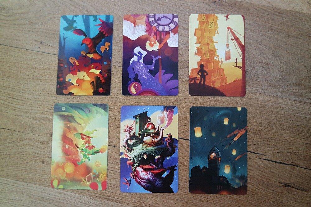 Het kaartspel Muse van 999 Games - meesterwerkkaarten