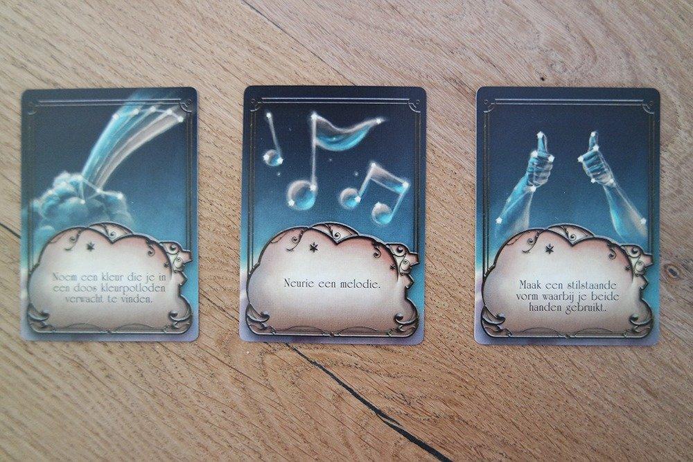 Het kaartspel Muse van 999 Games - inspiratiekaarten