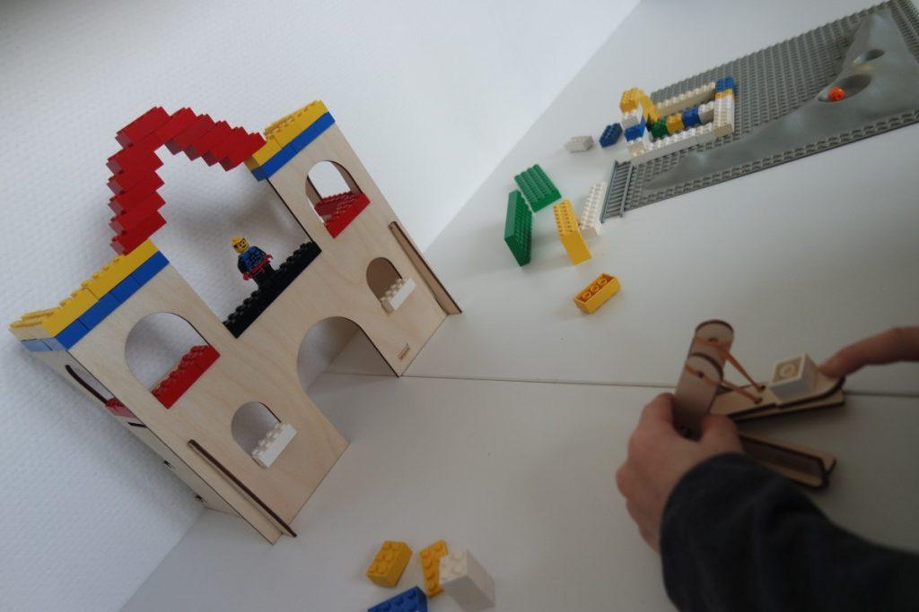 Schieten met de katapult - bouwen met LEGO