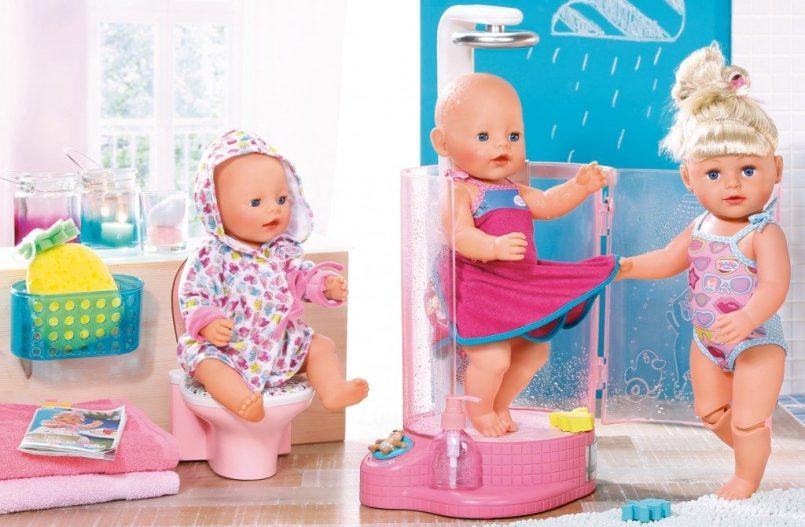 Baby Born douche wc