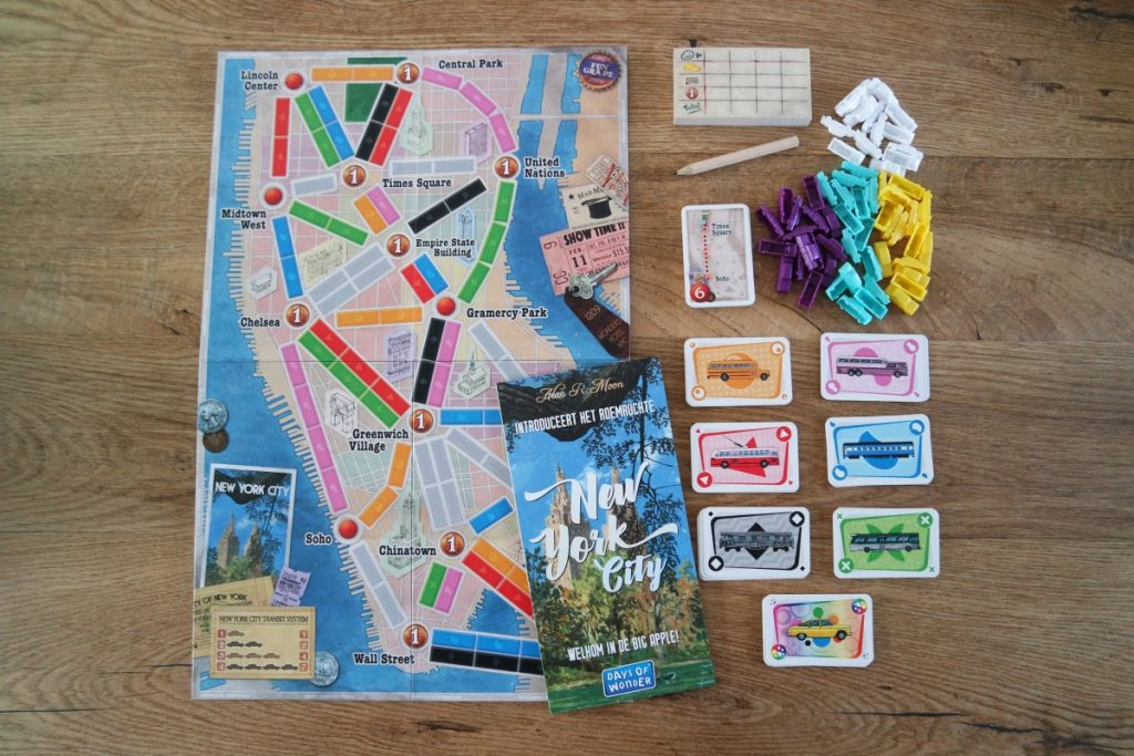 Ticket To Ride New York - de inhoud