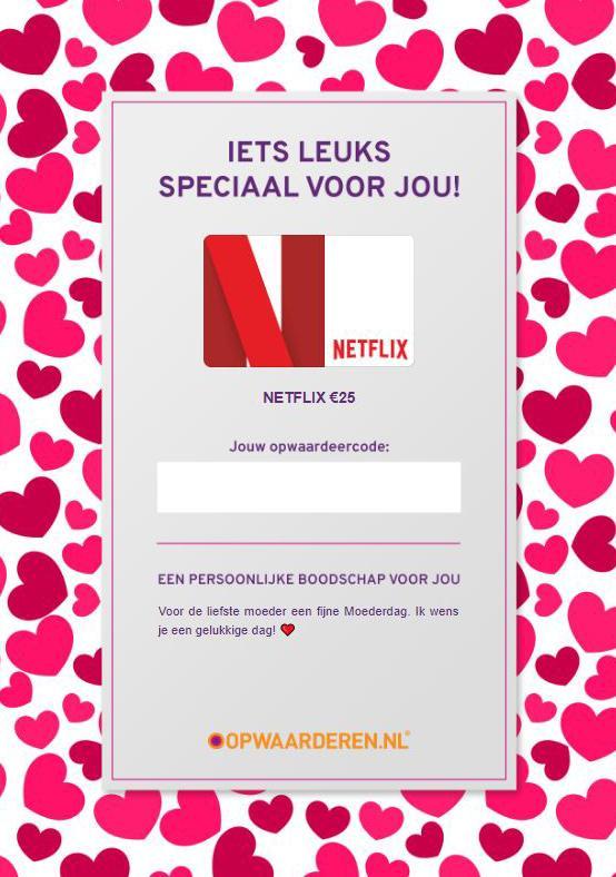 Gift card Netflix moederdag bloghop