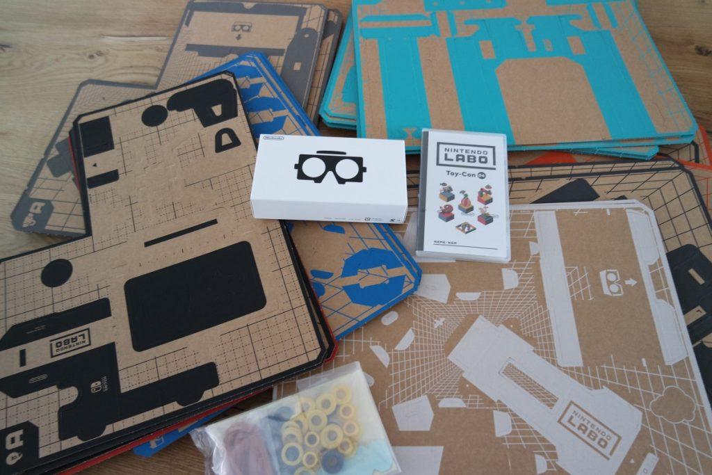 VR-bril, het spel en de benodigdheden