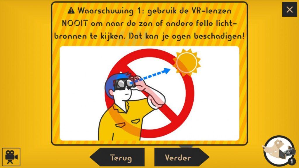 Nintendo Labo waarschuwing