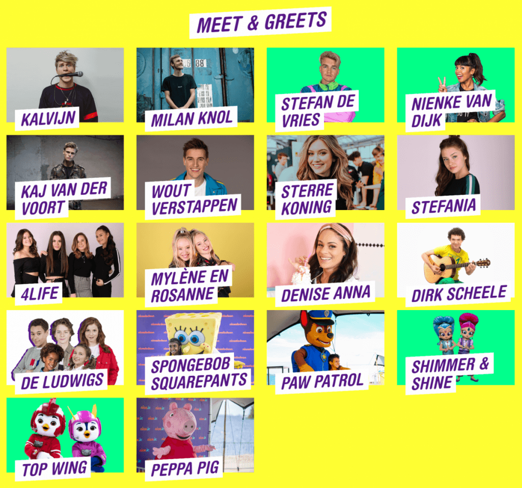 Meet & Greets - Nickelodeon Familie Festival