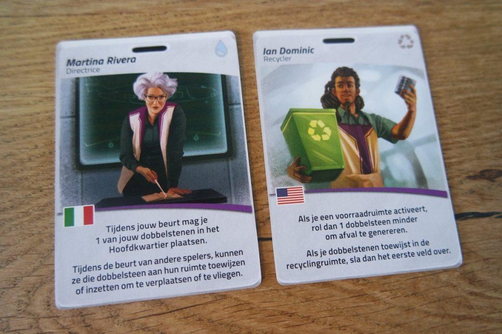Voorbeeld rollen in het spel