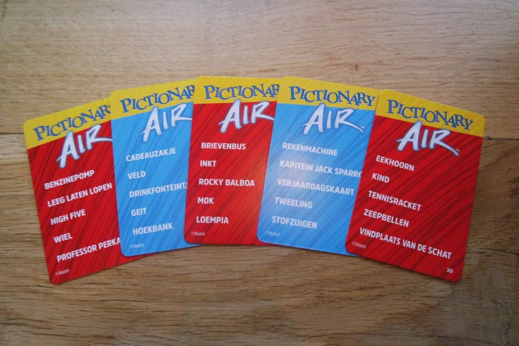 Pictionary Air speelkaarten