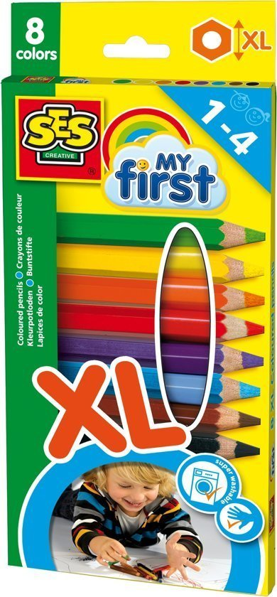 De leukste speelgoed schoencadeautjes - SES My First Kleurpotloden XL