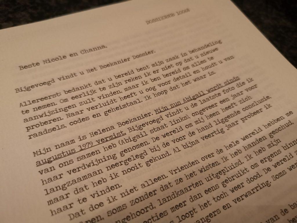 Puzzelpost Het Boekanier Dossier