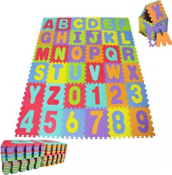 Speelmat met letters en cijfers - cadeau kind 2 jaar