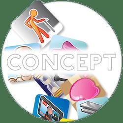 Concept bordspel logo