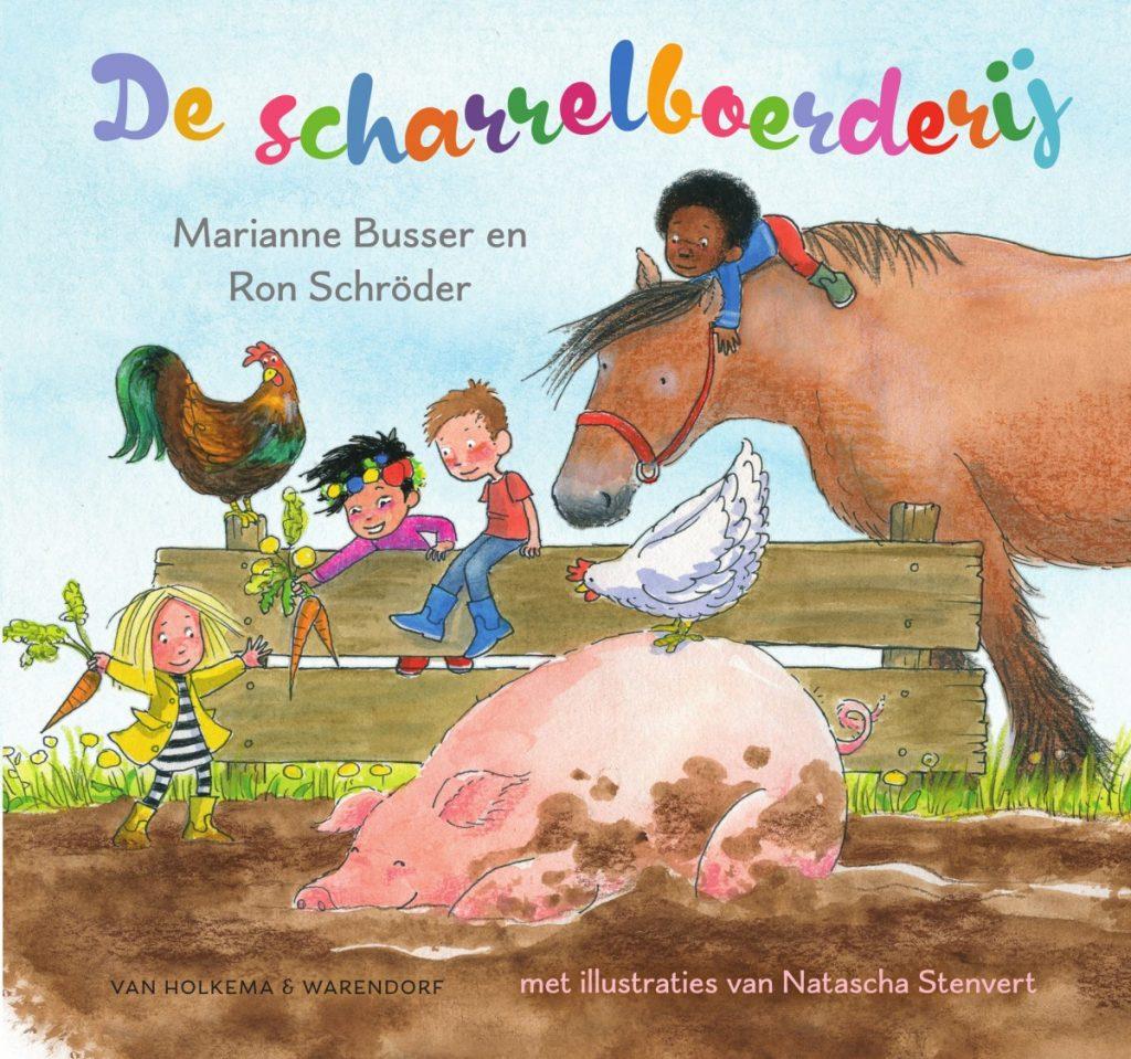 Kinderboek De scharrelboerderij