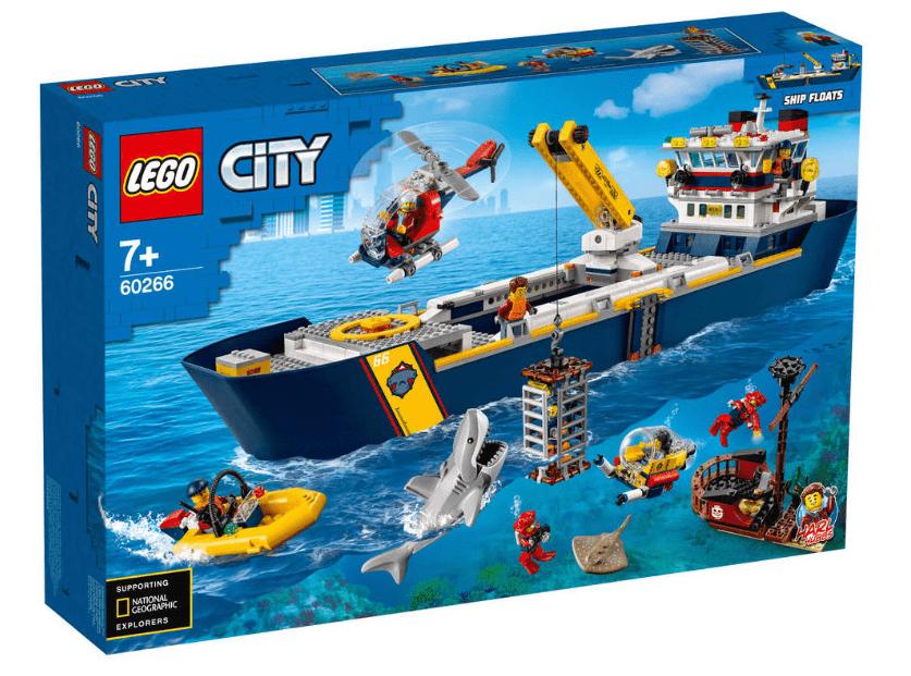 Nieuwste LEGO bouwsets - LEGO City oceaan onderzoekschip 60266