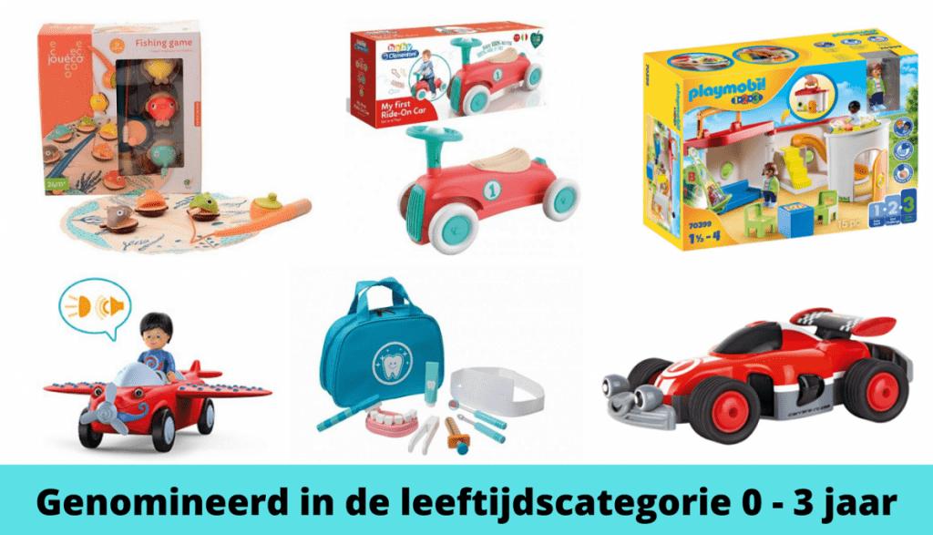 Het Beste Speelgoed van Nederland de Genomineerden 0 - 3 jaar