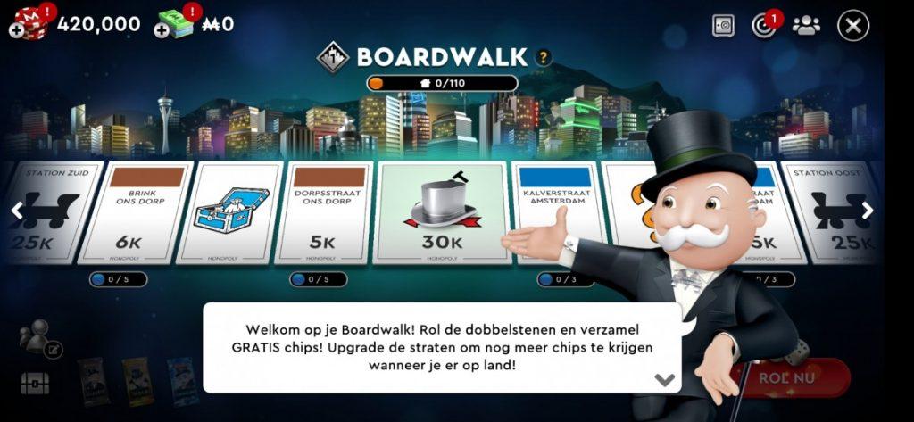 Monopoly Poker - het speelbord