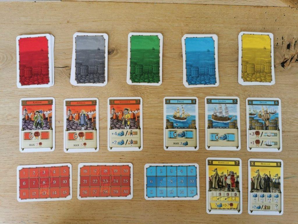 De kaarten in het spel