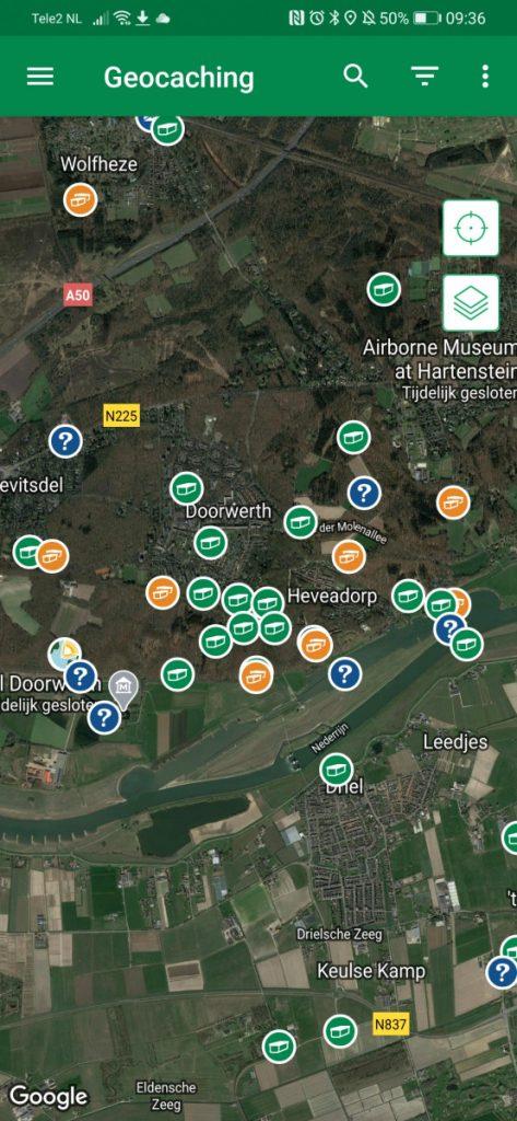 Voorbeeld kaart - Geocaching