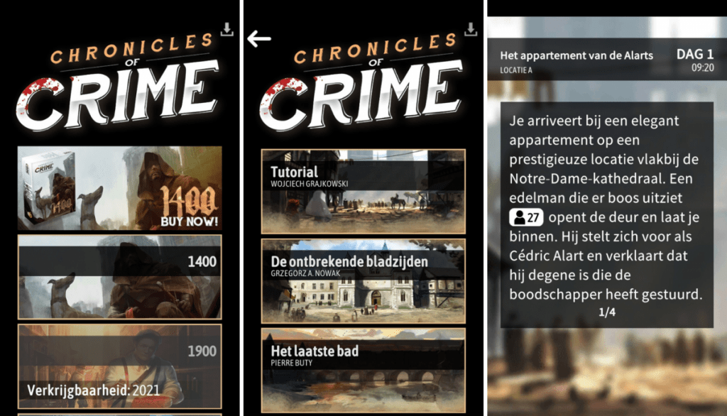 Chronicle of Crime 1400 - de mobiele app