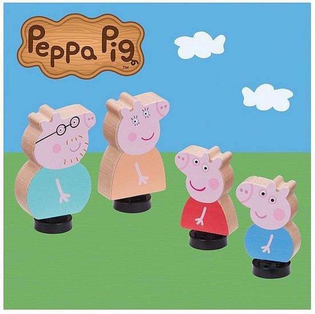 Peppa Pig - Houten Familie - 4 Figuren